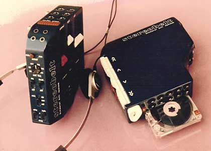 Andreas Pavel's Stereobelt, from 1972 - the first personal stereo.