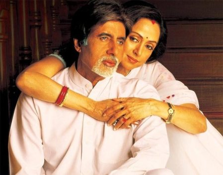 Amitabh Bachchan and Tabu in Cheeni Kum (2013).