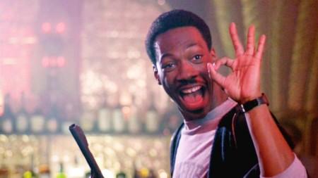Eddie Murphy in Beverly Hills Cop (1984).