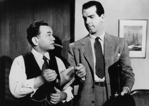 Edward G. Robinson (left) and Fred MacMurray in Double Indemnity (1944).