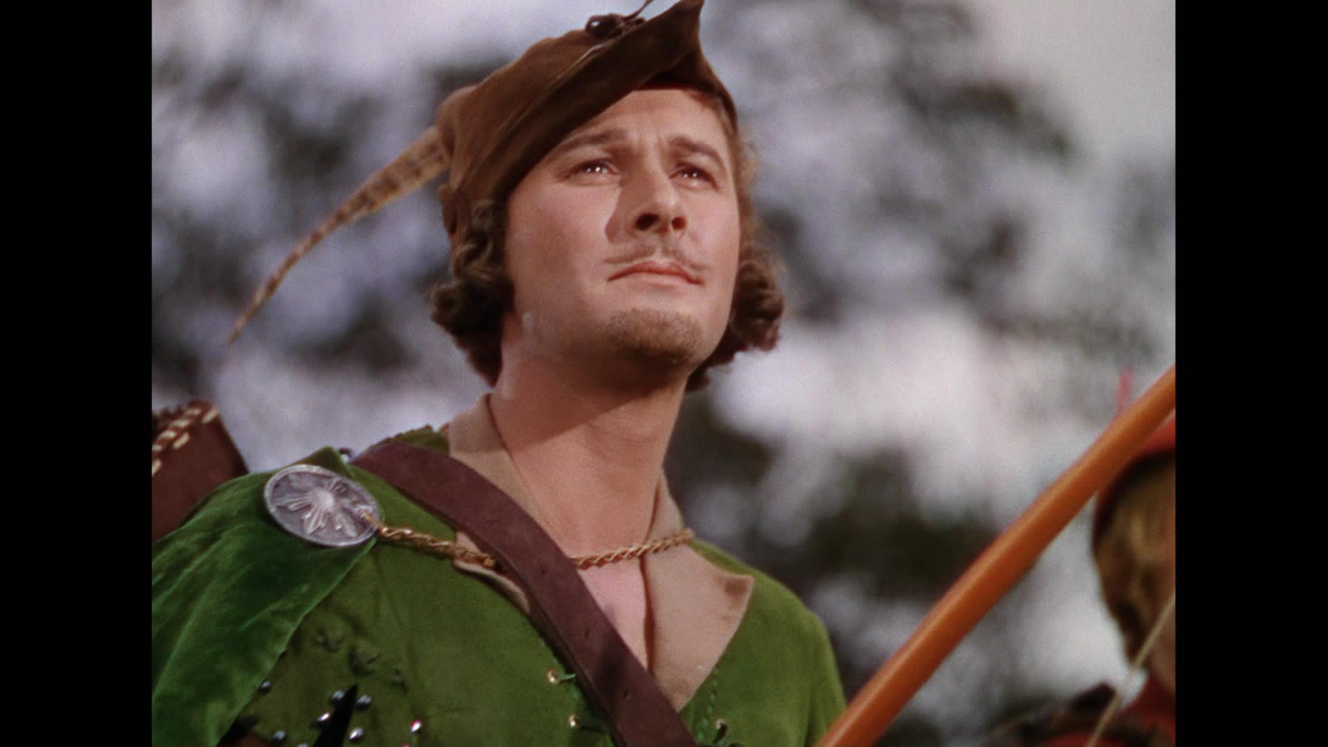 Errol Flynn as Robin Hood in The Adventures of Robin Hood ...
