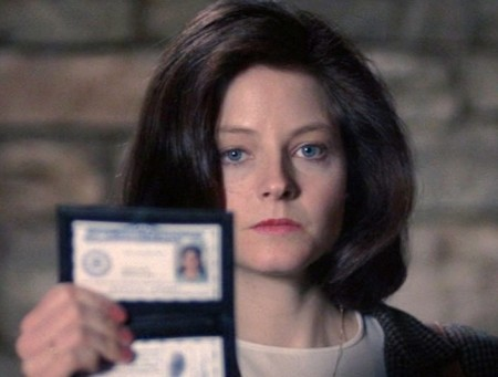 Jodie Foster in The Silence of the Lambs (1991).