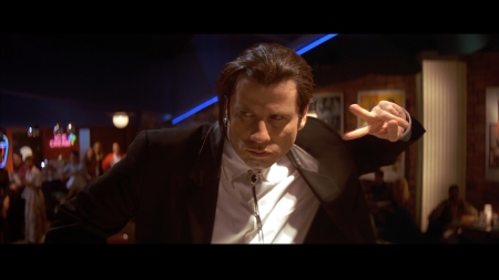 John Travolta in Pulp Fiction (1994).