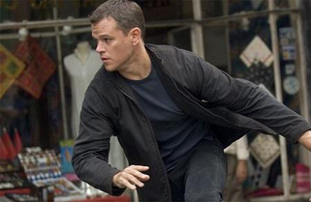 Matt Damon as Jason Bourne in The Bourne Ultimatum (2008).