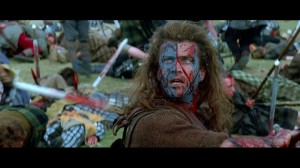 Mel Gibson directed and starred in the Oscar-winning Braveheart (1995).