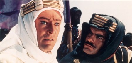 Peter O'Toole and Omar Sharif in Lawrence of Arabia (1962).