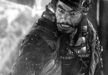 Toshiro Mifune in Seven Samurai.
