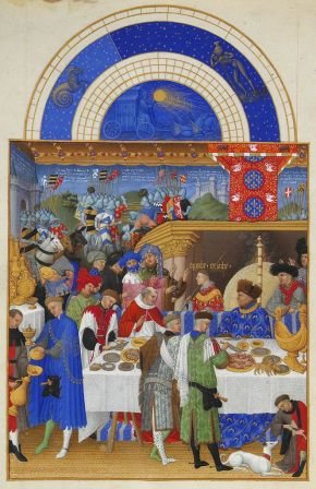 The page for January in Les Très Riches Heures du duc de Berry.