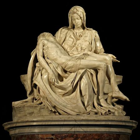 Michelangelo's Pietà is located in St. Peter's Basilica in Rome.