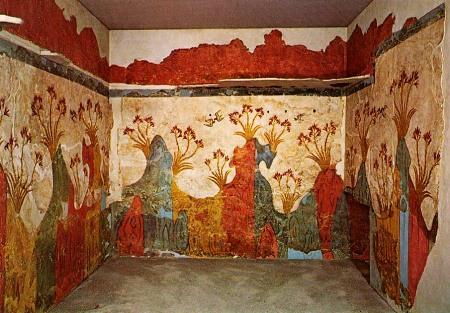 The Spring fresco at Akroktiri.
