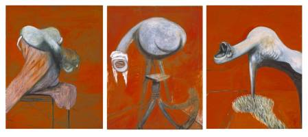 Three Studies for Figures at the Base of a Crucifixion..