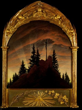 friedrich cross in the mountains