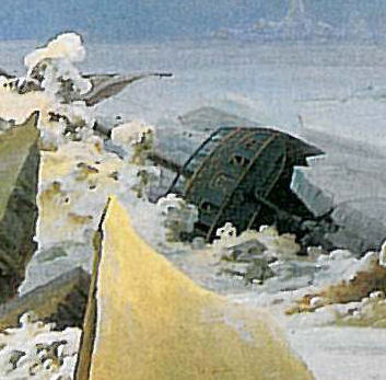 friedrich sea of ice detail