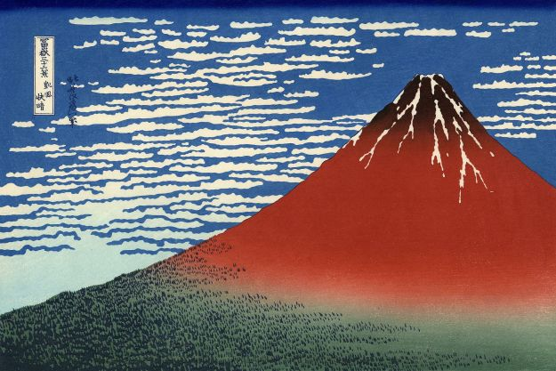 hokusai Red_Fuji_southern_wind_clear_morning