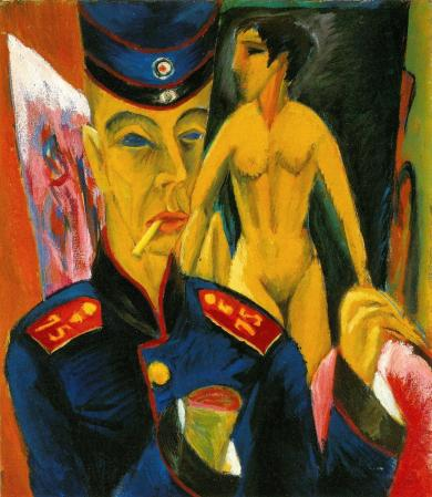 kirchner self portrait as a soldier