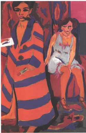 kirchner self portrait with model
