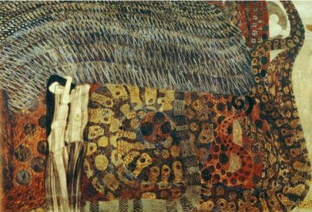 klimt beethoven frieze 3