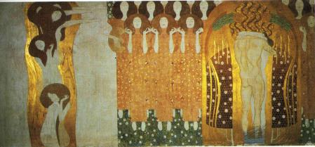Klimt beethoven-frieze-the-longing-for-happiness-finds-repose-in-poetry-right-wall