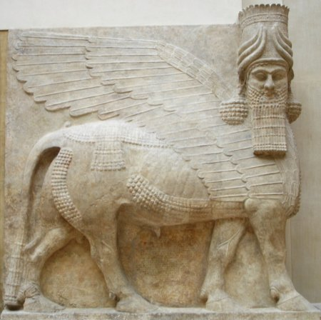One of Sargon's lamassu, now at the Louvre in Paris.