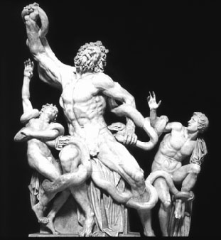 laocoon - earlier pose
