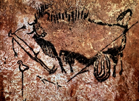 A painting from the Lascaux Caves.