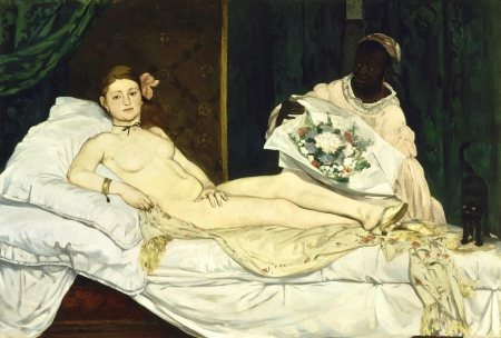 Manet's scandalous Olympia.