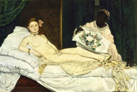 Manet's scandalous Olympia.