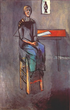 matisse woman on a high stool