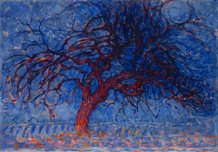 mondrian red tree 1908