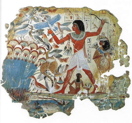 Nebamun Hunting Fowl was painted on the wall of his tomb.