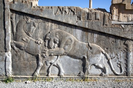 Persepolis lion and bull