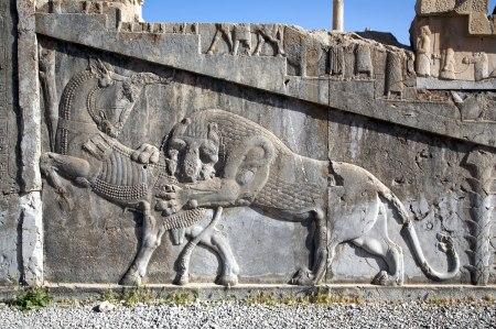 Persepolis lion and bull
