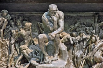 rodin gates of hell detail