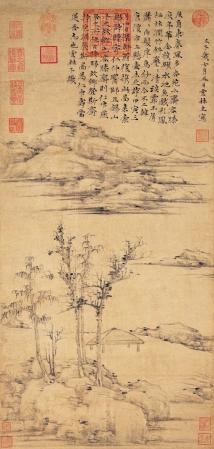 Ni Zan's painting, The Rongxi Studio.