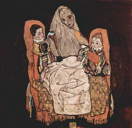 schiele mother with two children