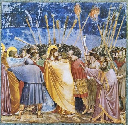 Scrovegni _The_Arrest_of_Christ_(Kiss_of_Judas)