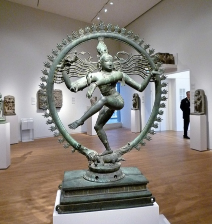 Most Chola bronzes are small enough to carry with you, but the Shiva Nataraja at the Rijksmuseum (dating to 1100-1200) is five feet tall.