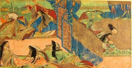 tale of genji scroll 6 mistletoe