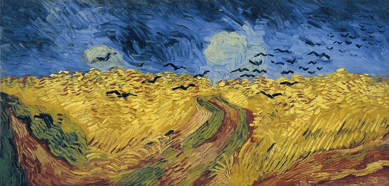 van gogh wheatfield with crows