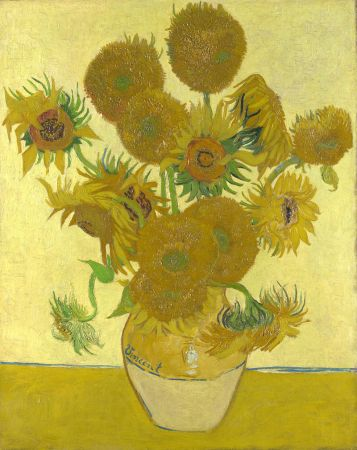 One of Van Gogh's paintings of sunflowers from 1888.