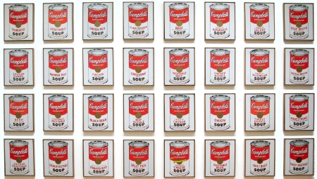 Campbell's Soup Cans.