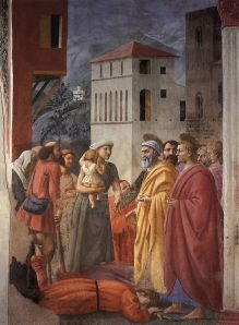 masaccio distribution of alms