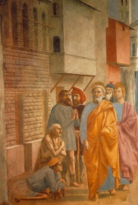 masaccio st peter healing the sick