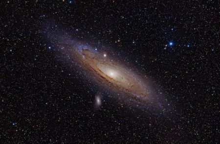 The Andromeda Galaxy. At just over 2.5 million light years from Earth, it is one of the closest galaxies to the Milky Way.