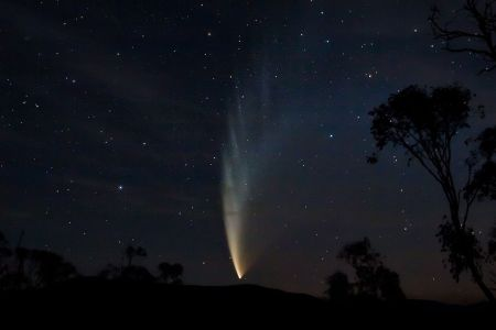 Comet McNaught in 2007.