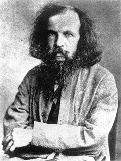A photograph of Dmitri Mendeleev (1834-1907).
