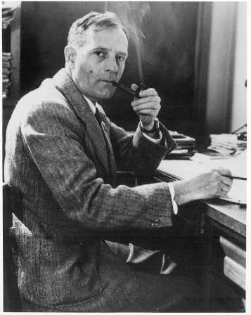 A photograph of Edwin Hubble (1889-1953).