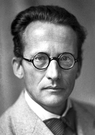A photograph of Erwin Schrödinger (1887-1962).