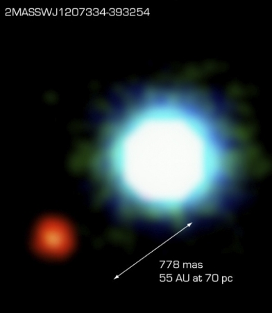 The first exoplanet to be photographed.