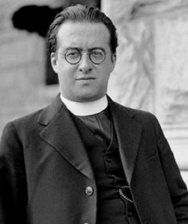 A photograph of Georges Lemaître (1894-1966).